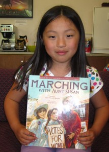 Eight-year-old Eden reviews Marching With Aunt Susan. Read her review at the Read, Write, Repeat blog.